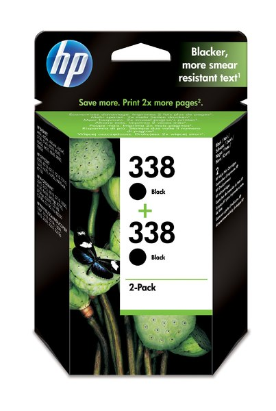 HP 338 2-pack Black Inkjet Print Cartridge