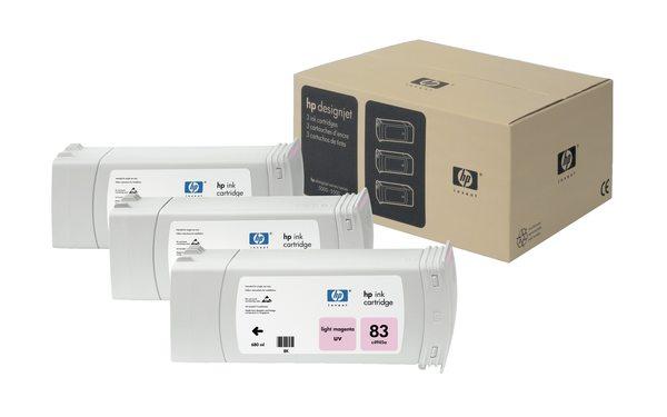 HP 83 3-ink Light Magenta UV Cartridge Multipack