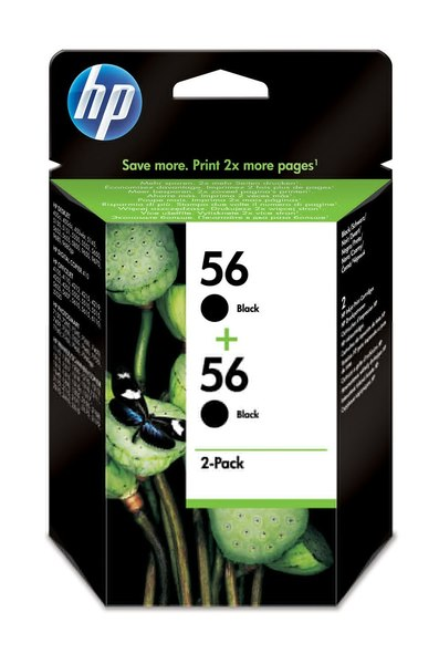 HP 56 2-pack Black Inkjet Print Cartridge