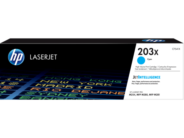 HP LaserJet Print Cartridge, 203X, Cyan