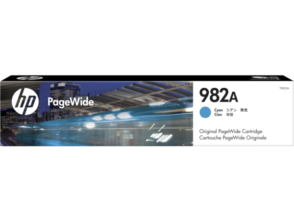HP 982A PageWide Cyan Cartridge, WW