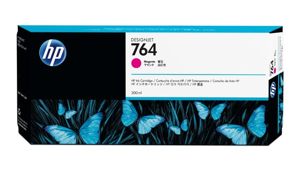 HP 764 300-ml Magenta Ink Cartridge