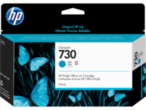 HP 730 130-ml DesignJet Cyan Ink Cartridge, WW