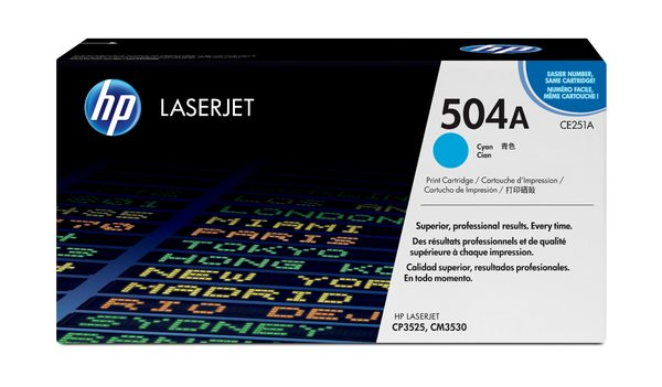 HP 504A Cyan Government LaserJet Toner Cartridge