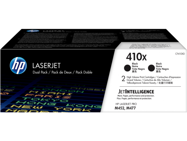 HP LaserJet Dual Pack Print Cartridge - 410X