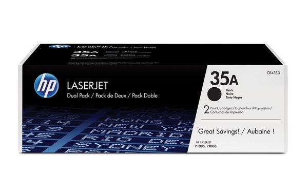 HP LaserJet CB435A Dual Pack Black Print Cartridges