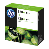 HP 920XL 2-pack High Yield Black Original Ink Cartridges