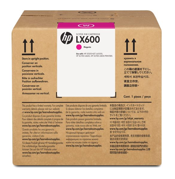 HP LX600 3-liter Magenta Latex Scitex Ink Cartridge