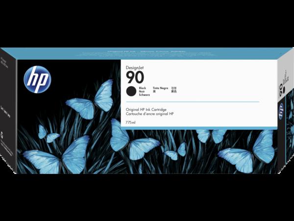HP 90 775-ml Black DesignJet Ink Cartridge, WW