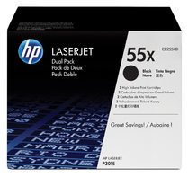 HP LaserJet CE255X Dual Pack Black Print Cartridges