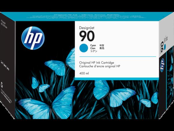 HP 90 400-ml Cyan DesignJet Ink Cartridge, WW