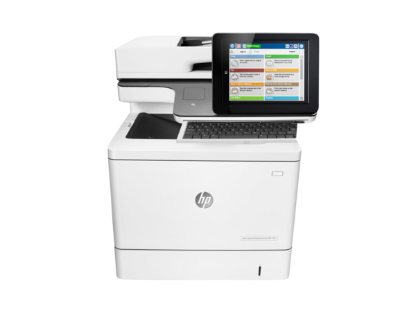 HP Color LaserJet Enterprise Flow MFP M577z, center facing, keyboard out