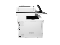 HP Color LaserJet Enterprise Flow MFP M577z, profile, interface side, keyboard out