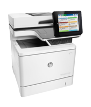 HP Color LaserJet Enterprise Flow MFP M577z, right facing, keyboard out