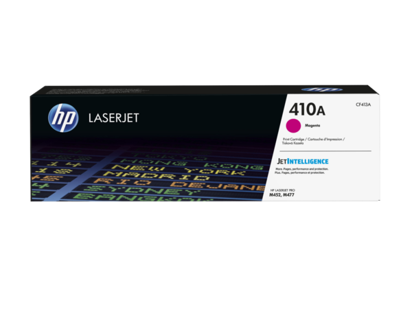 HP LaserJet 410A Magenta Print Cartridge (EMEA), center facing