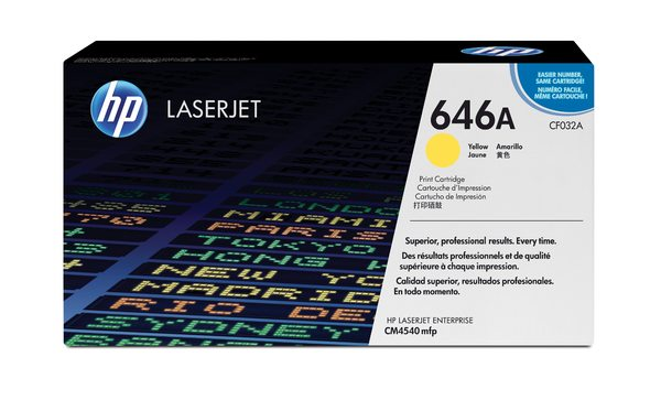 HP CF032A Yellow Contract LaserJet Toner Cartridge