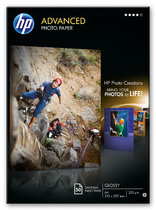 HP Advanced Glossy Photo Paper-50 sht/210 x 297 mm