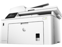HP LaserJet Pro MFP M227fdw, Hero, Left facing, no output