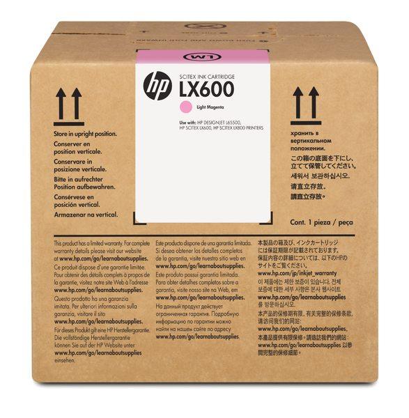 HP LX600 3-liter Light Magenta Latex Scitex Ink Cartridge