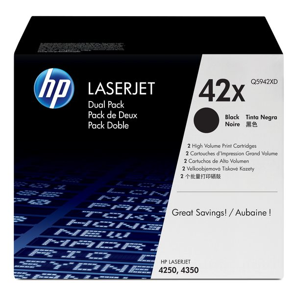HP LaserJet Q5942XD Black Print Cartridge Dual Pack