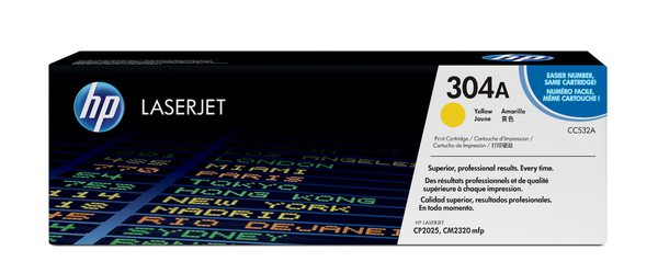 HP CC532A Yellow Contract LaserJet Toner Cartridge