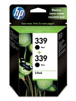 HP 339 2-pack Black Inkjet Print Cartridge