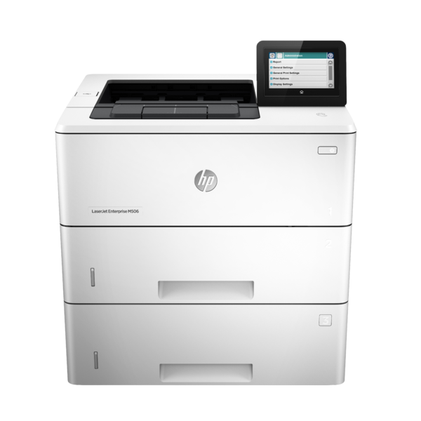 HP LaserJet Enterprise M506, Center, Front, no output