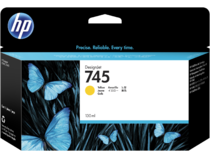 HP 745 130-ml DesignJet Yellow Ink Cartridge