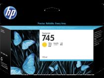 HP 745 130-ml DesignJet Yellow Ink Cartridge