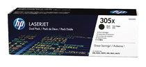 HP 305X Black Dual Pack LaserJet Toner Cartridges