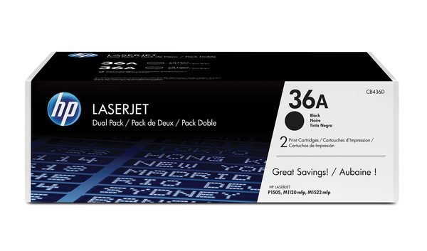 HP LaserJet CB436A Dual Pack Black Print Cartridges