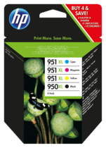 HP 950XL/951XL Combo-pack Officejet Ink Cartridges
