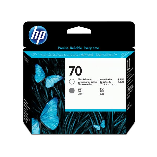 HP 70 Gloss Enhancer and Gray Printhead