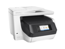 HP OfficeJet Pro 8730 All-in-One (White), Right facing, no output