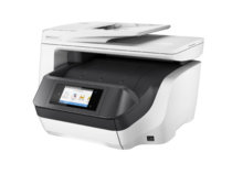 HP OfficeJet Pro 8730 All-in-One (White), Left facing, no output