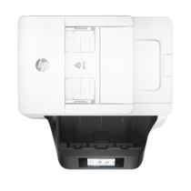 HP OfficeJet Pro 8730 All-in-One (White), Aerial/Top, no output