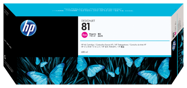 HP 81 680-ml Magenta Dye Ink Cartridge