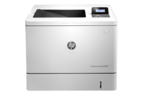 HP Color LaserJet Enterprise M553dn, color printer, center view, no paper