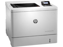 HP Color LaserJet Enterprise M553dn, color printer, right facing, no paper