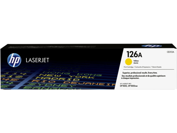HP LaserJet 126A Yellow Print Cartridge