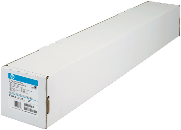 HP Bright White Inkjet Paper-914 mm x 45.7 m (36 in x 150 ft)