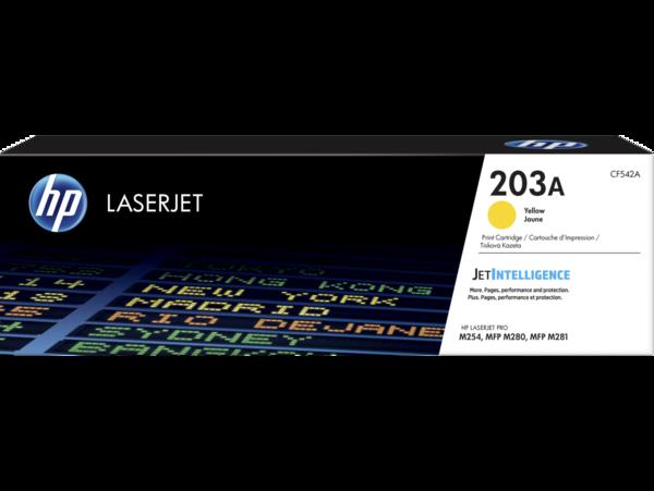 HP LaserJet Print Cartridge, 203A, Yellow