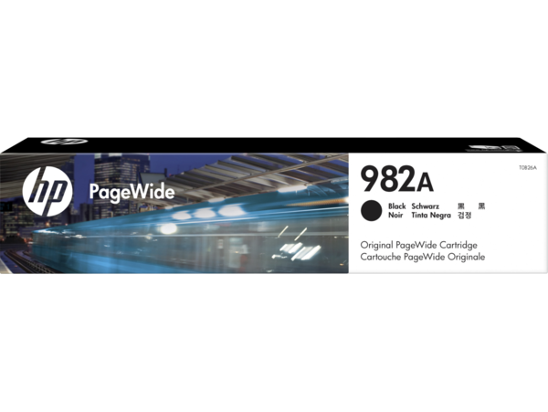 HP 982A PageWide Black Cartridge, WW