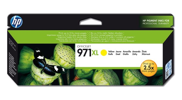 HP 971XL Yellow Officejet Ink Cartridge