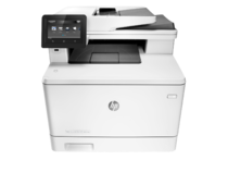 HP Color LaserJet Pro M477fdw Printer, center facing