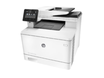 HP Color LaserJet Pro M477fdw Printer, left facing