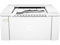 HP LaserJet Pro M102w, Center, Front, with output