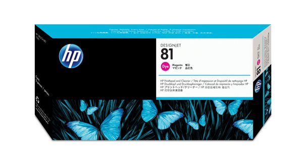 HP 81 Magenta Dye Printhead and Printhead Cleaner