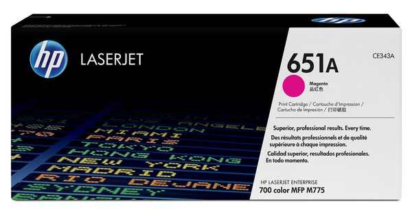 HP 651A Magenta LaserJet Toner Cartridge