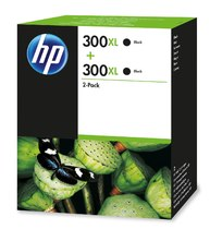HP 300XL 2-pack High Yield Black Original Ink Cartridges